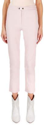 Isabel Marant Nila Flat-Front Flared Crop Pants