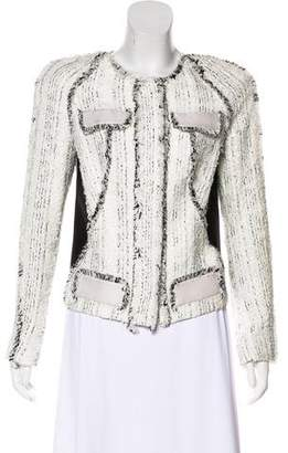 Antonio Berardi Frayed Scoop Neck Jacket