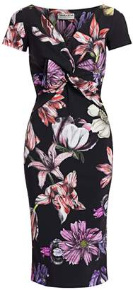 Chiara Boni Illye Floral Print Sheath Dress