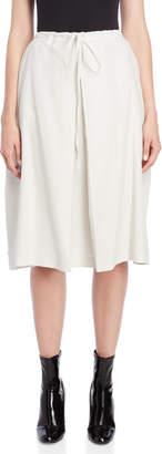 Jil Sander Inverted Pleat Drawstring Skirt