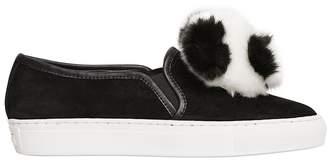 Katy Perry 20mm Joy Panda Suede Slip On Sneakers