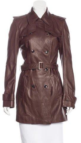 Balenciaga Balenciaga Leather Trench Coat w/ Tags