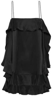 Zimmermann Ruffled Washed-silk Camisole