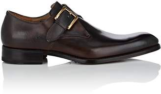Harris Men's Burnished Leather Monk-Strap Shoes