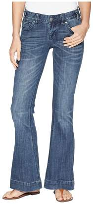 Rock and Roll Cowgirl Trousers in Medium Vintage W8-6673 Women's Jeans
