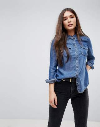 Only Fitted Denim Shirt