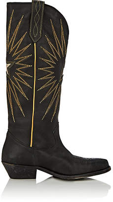 Golden Goose Women's Wish Star Distressed Leather Knee Boots - Black
