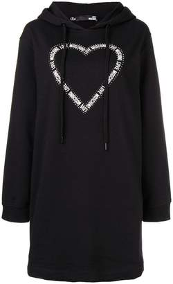 Love Moschino heart print sweater dress