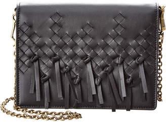 Bottega Veneta Brio Intrecciato Leather Wallet On Chain