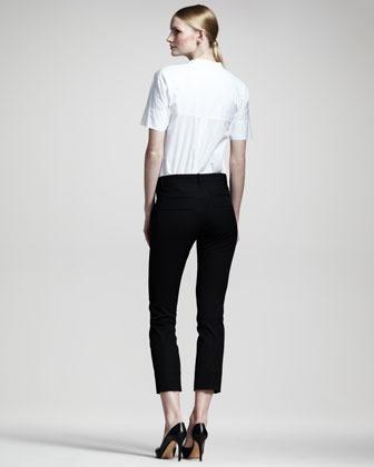 Jil Sander Niccolo Straight-Leg Cropped Pants, Black