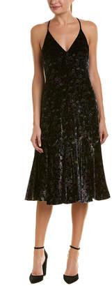 Rebecca Taylor Midnight Bloom Silk-Blend Midi Dress