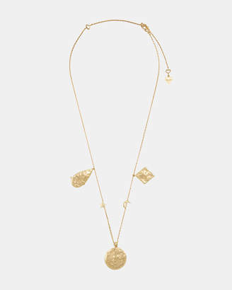 Wanderlust + Co Aleya Multi Charms Necklace