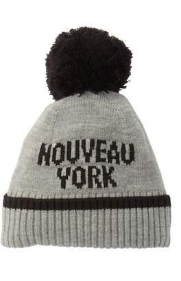 Kate Spade Nouveau York Merino Wool Pompom Beanie
