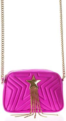 Stella McCartney Mini Star Fuchsia Eco Leather Shoulder Strap