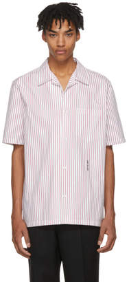 Alexander Wang White and Red Pinstripe Short Sleeve NY Post Made You Look Shirt