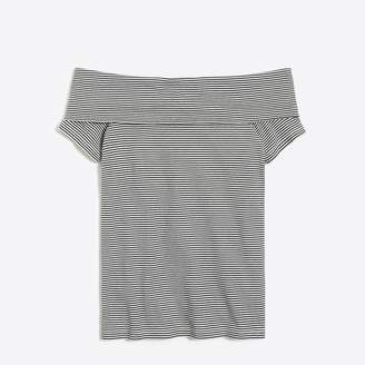 J.Crew Factory Striped off-the-shoulder T-shirt