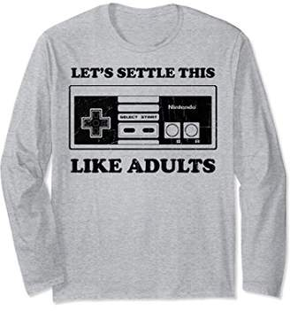 Nintendo NES Controller Like Adults Long Sleeve Tee