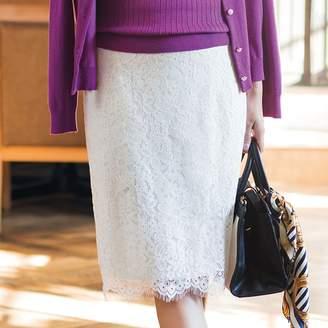 ベルーナ (ベルーナ) - ベルーナ 美シルエットレースタイトスカート ホワイト 61 レディーススカート 春 夏 スカート レディースファッション アパレル 通販 大きいサイズ コーデ 安い おしゃれ お洒落 30代 40代 50代 女性
