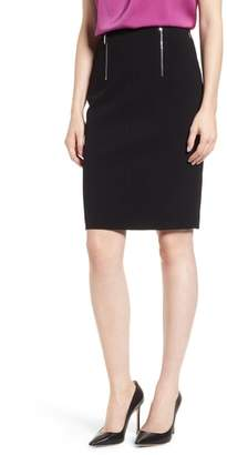 BOSS Vinueza Twill Jersey Suit Skirt