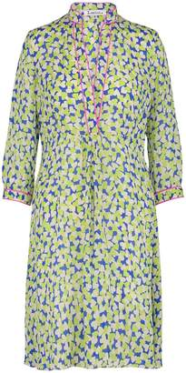 Libelula Longer Zara Dress Blue & Yellow Hearty Print