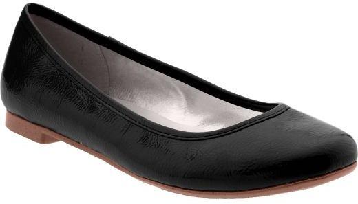 Women's Faux-Patent Ballet Flats