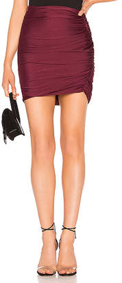 About Us Ava Ruched Mini Skirt