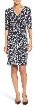 Women's Ivanka Trump Jersey Faux Wrap Dress $128 thestylecure.com