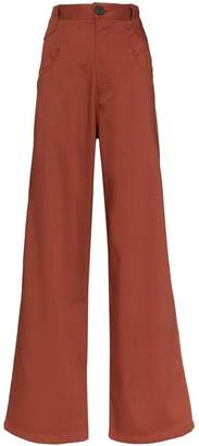 Telfar high-waist flared jeans