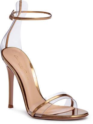 Gianvito Rossi Portofino 105 pvc-trimmed bronze sandals