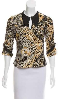 Mayle Metallic-Accented Silk Blouse