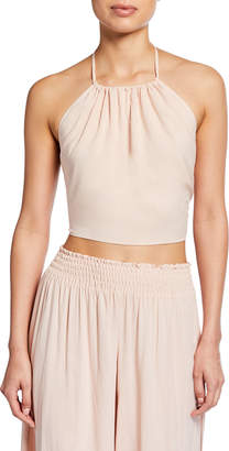 Ramy Brook Denys Cropped Halter Top