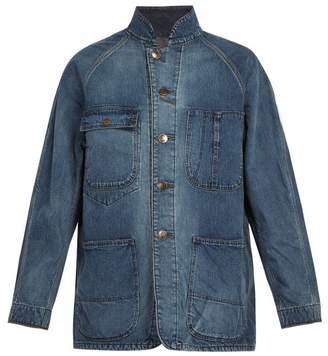 Needles - Chore Corduroy Collar Denim Jacket - Mens - Blue