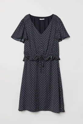 H&M MAMA Satin Nursing Dress - Black