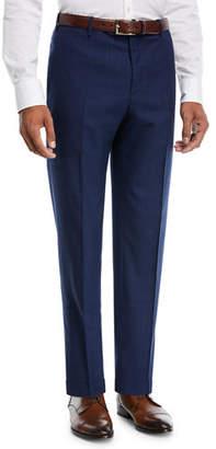 Zanella Wool/Silk Broken-Check Trousers