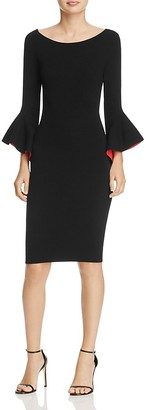 MILLY Bell-Sleeve Sheath Dress $435 thestylecure.com