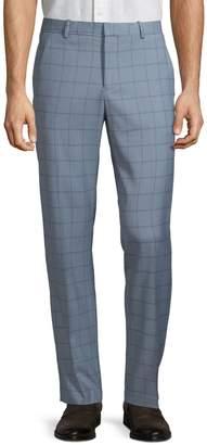 Perry Ellis Slim-Fit Windowpane Pants