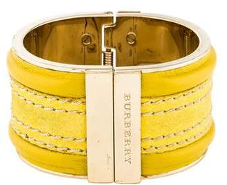 Burberry Stitched Leather Cuff