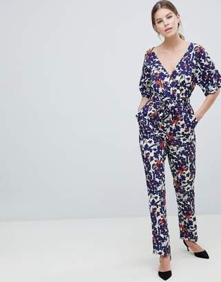 Yumi Floral Kimono Sleeve Jumpsuit