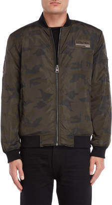 Buffalo David Bitton Camouflage Bomber Jacket