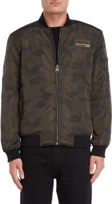 Buffalo David Bitton Camouflage Bomber Jacket
