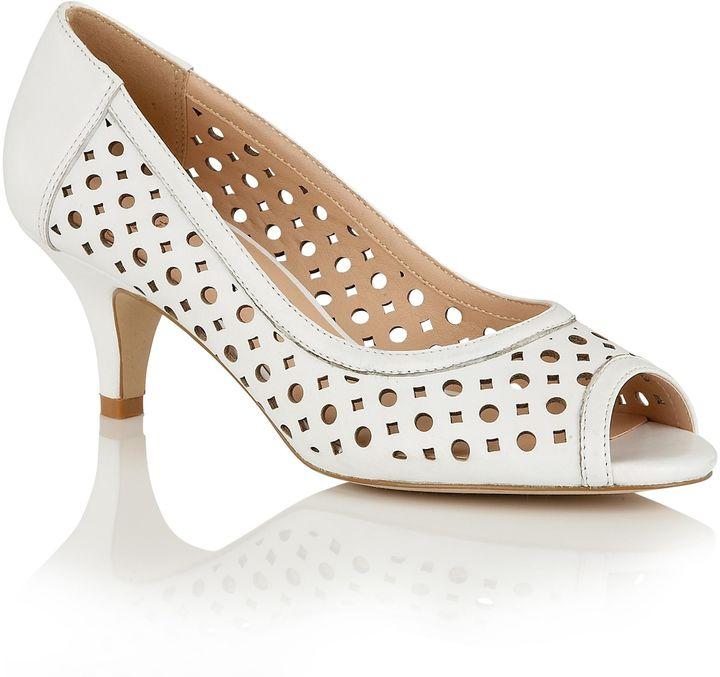 White Peep Toe Heels - ShopStyle Australia