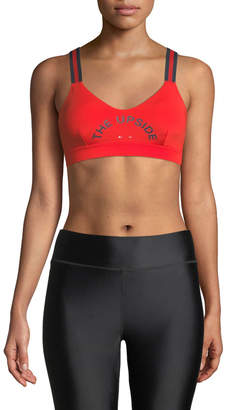 The Upside Colorblock Logo Matte Dance Sports Bra