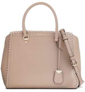 MICHAEL Michael Kors Eyelet-embellished Leather Shoulder Bag