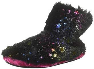 Dearfoams Girls Star Pile Bootie Slipper