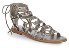 Frye Blair Side Ghillie Leather Gladiator Sandals