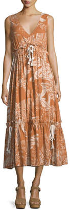 See by Chloe Pleated V-Neck Empire Dress