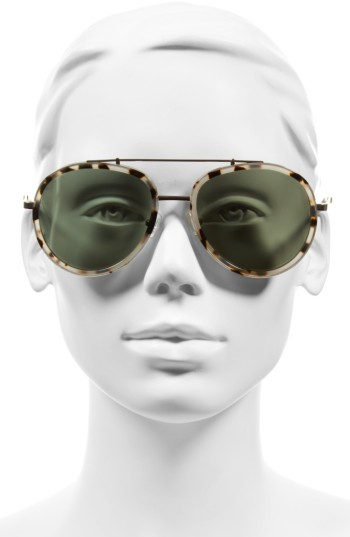 Women's Kendall + Kylie Jules 58Mm Aviator Sunglasses - Matte Demi/ Matte Gold 3