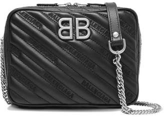 Balenciaga Bb Reporter Xs Quilted Leather Shoulder Bag - Black