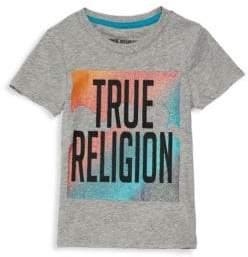 True Religion Little Girl's & Girl's Rainbow Logo Cotton Tee