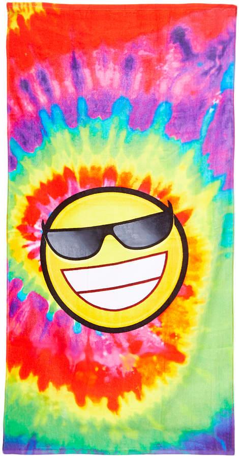 Tie-Dye Smiley Face Beach Towel - Kids